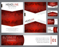 Templates brochure design, banner, gift cards, business cards.  Stock Photos