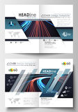 Templates for brochure, magazine, flyer, booklet or report. Cover template, easy editable blank, flat layout in A4 size Royalty Free Stock Images