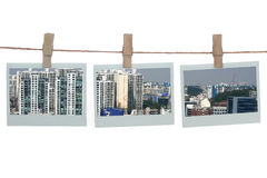 Templates with buildings Royalty Free Stock Photos