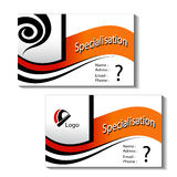 Templates of business cards Stock Image