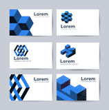 Templates of business cards royalty free illustration