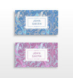 Templates business cards Royalty Free Stock Photos