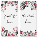 Templates for business cards, greeting cards, name cards and invitations Stock Photos