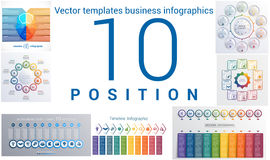 Templates business infographics 10 positions Royalty Free Stock Photo
