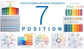 Templates business infographics 7 positions Stock Image