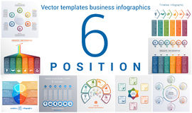 Templates business infographics 6 positions Stock Photography