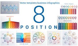 Templates business infographics 8 positions Stock Photography