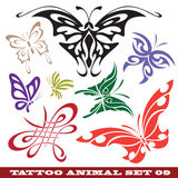 Templates butterfly for tattoo Stock Image