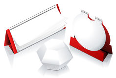 Templates of calendar. Set blank tear off paper calendar Stock Photography