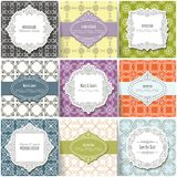 Templates, cards and frames. stock illustration