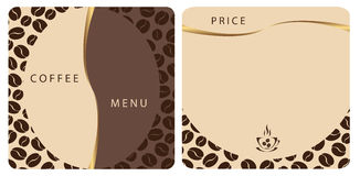 Templates Coffee shop menu stock illustration