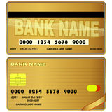 Templates of credit cards design. Stock Images
