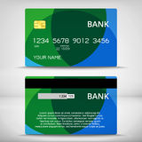 Templates of credit cards design Stock Images