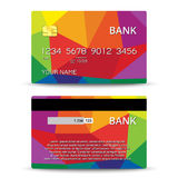 Templates of credit cards design Stock Photography