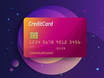 Templates of credit cards design. Vector plastic credit card or debit card.  Stock Photos