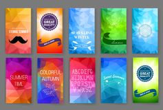 Templates. Design Set of Web, Mail, Box Package Stock Image