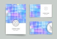 Templates. Design Set of Web, Mail, Brochures Stock Photography