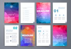 Templates. Design Set of Web, Mail, Brochures Royalty Free Stock Photography