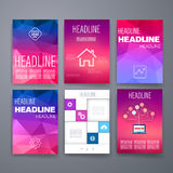 Templates. Design Set of Web, Mail, Brochures Royalty Free Stock Image