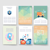 Templates. Design Set of Web, Mail, Brochures Stock Image