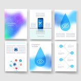 Templates. Design Set of Web, Mail, Brochures Royalty Free Stock Images