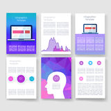 Templates. Design Set of Web, Mail, Brochures Stock Images