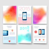 Templates. Design Set of Web, Mail, Brochures Stock Photos