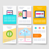 Templates. Design Set of Web, Mail, Brochures Stock Photo