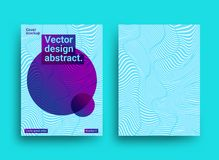 Templates designs with abstract background and trendy vibrant co. Lors. Abstract vector background. Design for brochures, posters, covers, banners. Template with Royalty Free Stock Image