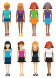 Templates of faceless girls Royalty Free Stock Photography