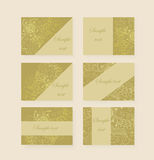 Templates flier gold. Sample vector flyers, invitations, banners Stock Photography