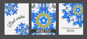 Templates with Floral mandala pattern and ornaments.. Vector Flyer oriental design Layout template. Islam, Arabic, Indian, ottoman motifs Stock Images