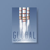 Templates for flyers, brochure or poster in Global warming concept. Stock Image