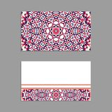 Templates for greeting and business cards, brochures, covers with floral motifs. Oriental pattern. Mandala. Invitation, save the date, RSVP Royalty Free Stock Photo