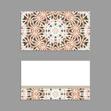 Templates for greeting and business cards, brochures, covers with floral motifs. Oriental pattern. Mandala. Invitation, save the date, RSVP Stock Images
