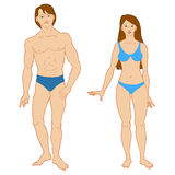 Templates of human s figure. Stock Images