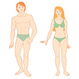 Templates of human s figure. Stock Photography