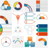 Templates 16 Infographics cyclic processes three positions Royalty Free Stock Photos