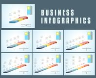Templates infographics from parts colored arrows, Conceptual inf. Ographics royalty free illustration