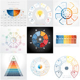 Templates Infographics, text area eight positions Stock Image
