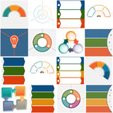 Templates Infographics three and four positions Stock Image