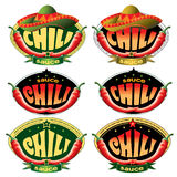 Templates labels for sauce chili Stock Image