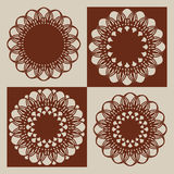 Templates for laser cutting decorative panels Stock Images