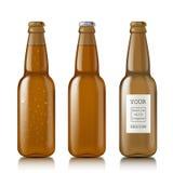 Templates realistic transparent bottles Stock Images