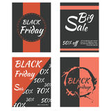 Templates for sale promotion on black friday. Vector illustration Royalty Free Stock Image