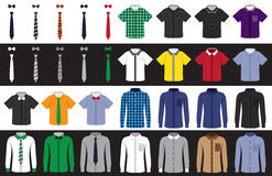 Templates shirts and ties Stock Photography