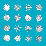 Templates of snowflakes for Christmas and New Year. Vector illustration.  Royalty Free Stock Image