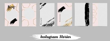 Templates for social media posts, instagram story. Set of modern templates for social media posts, instagram story. Vector Illustration vector illustration