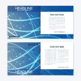 Templates for square brochure. Leaflet cover presentation. Business, science, technology design book layout. Scientific Stock Photography
