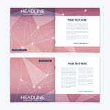 Templates for square brochure. Leaflet cover presentation. Business, science, technology design book layout. Scientific Stock Photo